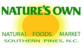 Nature's Own Natural Foods Market in Southern Pines, NC.